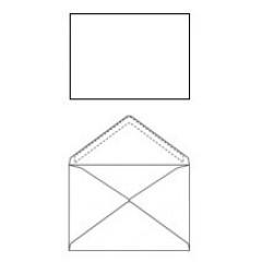 Omslag 114X162 wit puntklep Z/V 100GR (500)