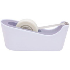 Plakbandafroller Scotch verzwaarde bodem lavendel incl 1 rol Scotch Magic Tape