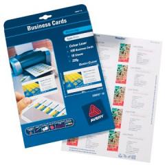 Visitekaart Avery 10 kaarten/bl 85x54mm 220g zijdeglanzend mat (25)