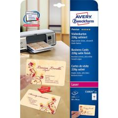 Visitekaart Avery 10 kaarten/bl 85x54mm 220g glanzend (25)