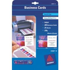 Visitekaart Avery 08 kaarten/bl 85x54mm 240g glanzend (25)