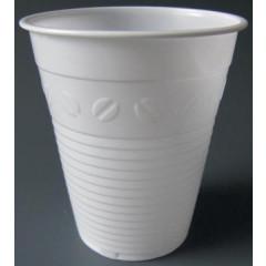 Automaatbeker uit polystryeen voor warme dranken 150ml wit (100)