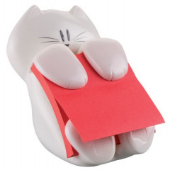 Z-Notes Post-it 76x76mm roze met dispenser kat