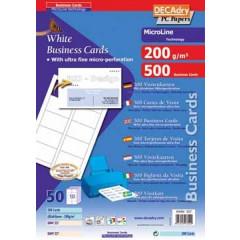 Visitekaarten Decadry MicroLine 85x54mm 200g 10/bl (50)