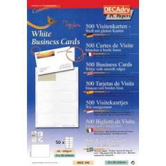Visitekaarten Decadry TopLine 85x54mm 200g 10/bl (50)