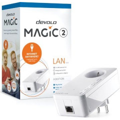 Powerline-adapter Devolo Magic 2 LAN 2400 Single voor supersnel internet