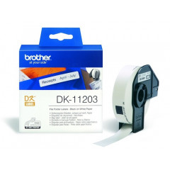 Label Brother DK-11203 17x87mm papier zwart op wit (300)