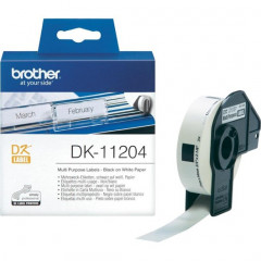 Label Brother DK-11204 17x54mm papier zwart op wit (400)