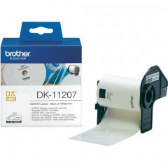 Label Brother DK-11207 CD/DVD Ø58mm film zwart op wit (100)