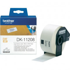 Label Brother DK-11208 38x90mm papier zwart op wit (400)