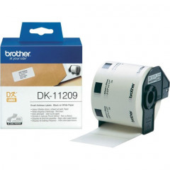 Label Brother DK-11209 29x62mm papier zwart op wit (800)