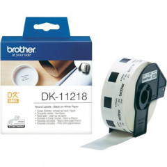 Label Brother DK-11218 Ø24mm papier zwart op wit (1.000)