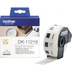 Label Brother DK-11219 Ø12mm papier zwart op wit (1.200)
