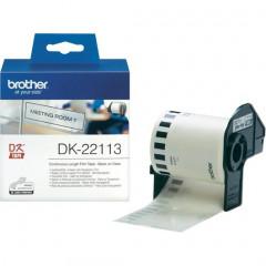 Label Brother DK-22113 62mmx15,24m film zwart op transparant