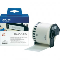 Label Brother DK-22205 62mmx30,48m papier zwart op wit