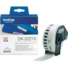 Label Brother DK-22210 29mmx30,48m papier zwart op wit