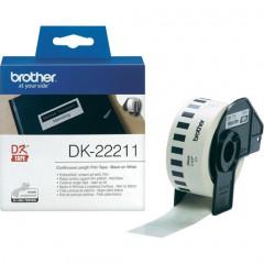 Label Brother DK-22211 29mmx15,24m film zwart op wit