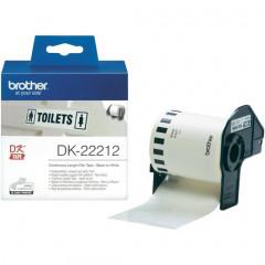 Label Brother DK-22212 62mmx15,24m film zwart op wit