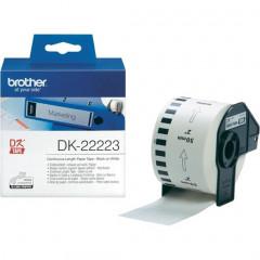 Label Brother DK-22223 50mmx30,48m papier zwart op wit