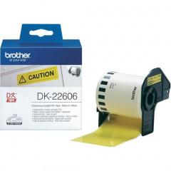 Label Brother DK-22606 62mmx15,24m film zwart op geel