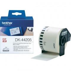 Label Brother DK-44205 62mmx30,48m papier zwart op wit afneembaar