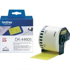 Label Brother DK-44605 62mmx30,48m papier zwart op geel afneembaar