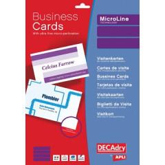 Visitekaarten Decadry MicroLine 85x54mm 185g 10/bl (50)