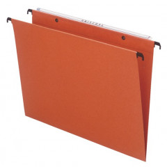 Hangmap Esselte Orgarex Dual Uniscope karton foolscap 390mm V-bodem lade oranje (50)(1040200)