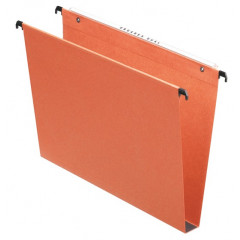 Hangmap Esselte Orgarex Dual Uniscope karton foolscap 390mm 30mm bodem lade oranje (50)(104030)