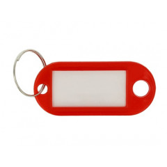Sleutelhanger Westcott met verwisselbaar etiket rood (100)