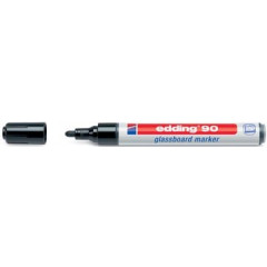 Glassboardmarker Edding 90 ronde punt 2-3mm zwart