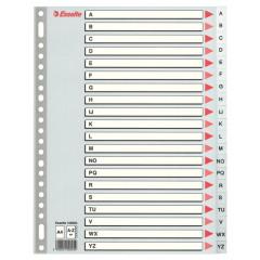 Tabbladen Esselte PP A4 A-Z 23-gaats grijs