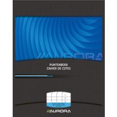 Puntenboek Aurora 16,5x21cm 65blz geniet en voorgedrukt