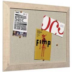 Kamashi notitiebord Bisilque 45x60cm houten frame naturel