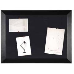 Kamashi notitiebord Bisilque 45x60cm houten frame zwart