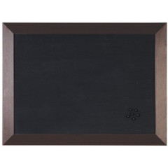 Kamashi notitiebord Bisilque 45x60cm bruin houten frame zwart