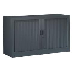 Roldeurkast H: 69,5x120x43cm (hxbxd) antraciet