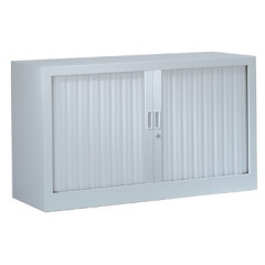 Roldeurkast H: 69,5x120x43cm (hxbxd) aluminium