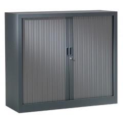 Roldeurkast H: 100x120x43cm (hxbxd) antraciet