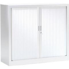 Roldeurkast H: 100x120x43cm (hxbxd) wit