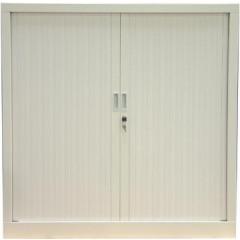 Roldeurkast H: 136x120x43cm (hxbxd) wit