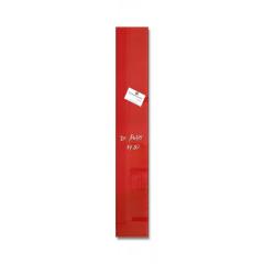 Magnetisch glasbord Sigel 12x78cm rood