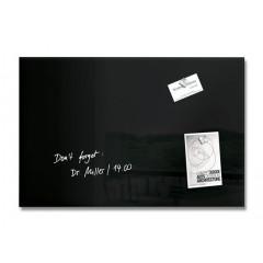 Magnetisch glasbord Sigel 40x60cm zwart