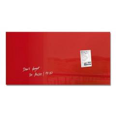 Magnetisch glasbord Sigel 91x46cm rood