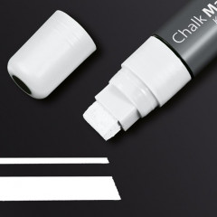 Krijtmarker Sigel 150 beitelpunt 5-15mm wit