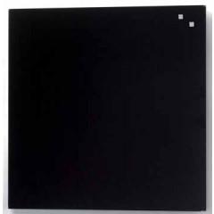 Glasbord Naga magnetisch 45x45cm zwart