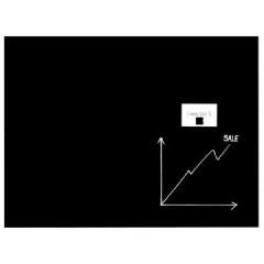 Glasbord Naga magnetisch 60x80cm zwart