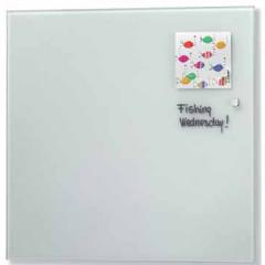 Glasbord Naga magnetisch 35x35cm wit