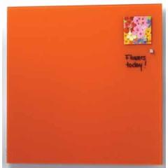 Glasbord Naga magnetisch 45x45cm oranje