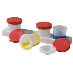 Antiknoeipot Creall verf kunststof 320ml transparant/rood (4)